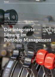 Die integrierte Lösung im Portfolio Management - solutionproviders