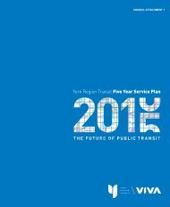 York Region Transit Five Year Service Plan
