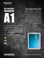 Toughpad A1 Spec Sheet - DataSource Mobility