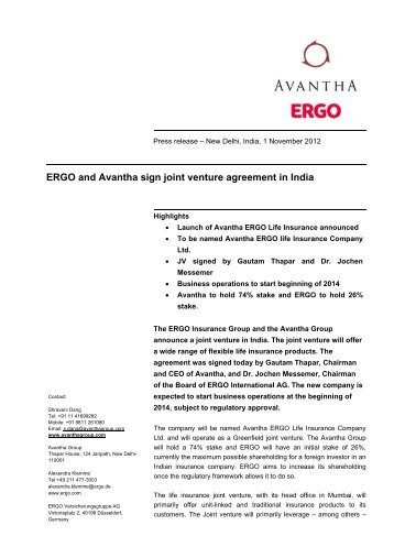A Press Release Detailing A New Joint Venture Agreement The Silver