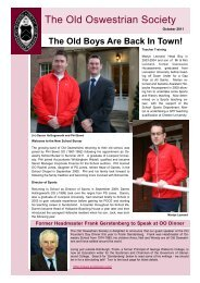 OO Newsletter - Oswestry School
