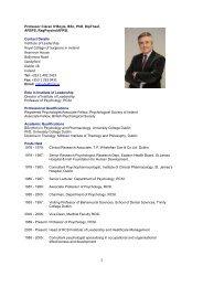 1 Institute of Leadership Royal College of Surgeons in Ireland ...