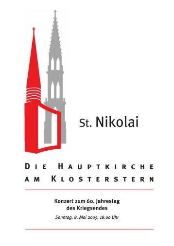 Vision – Desillusion – Hoffnung? - Hauptkirche St. Nikolai