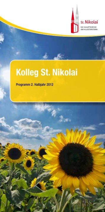 Programmheft Kolleg St. Nikolai 2. Halbjahr 2012 - Hauptkirche St ...