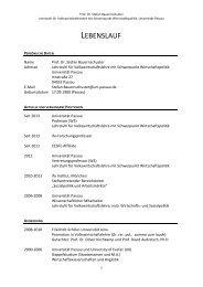 STEFAN BAUERNSCHUSTER - Universität Passau