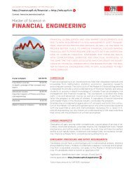 Curriculum and list of courses in brief - Master | EPFL