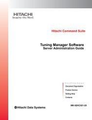 Hitachi Tuning Manager Software Server ... - Hitachi Data Systems