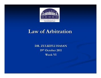 Proceedings of Arbitration