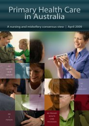 Primary Health Care - Royal College of Nursing, Australia