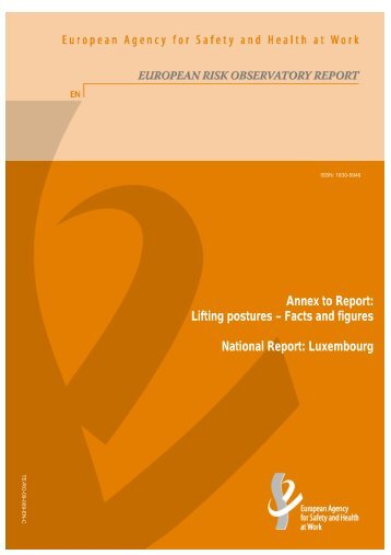 Annex to Report: Lifting postures – Facts and figures ... - Safe Start!