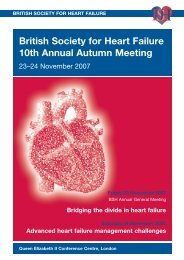 Bridging the divide in heart failure - British Cardiovascular Society