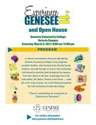 and Open House - Genesee Community College