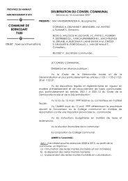 Taxe sur les inhumations - Bernissart