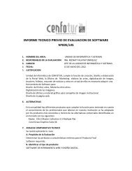 informe tecnico previo de evaluacion de software nº005/uis - Cenfotur