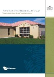 Preventing Repeat Residential Burglary - National Crime Prevention