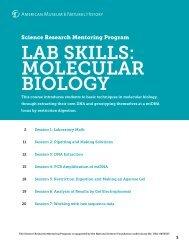 SRMP Lab Skills: Molecular Biology Curriculum - American Museum ...
