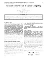 Residue Number System in Optical Computing - MIT Publications