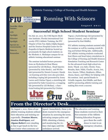 "FIU ATEP ""Running with Scissors"" - August 2011 - CNHS"