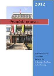 Pedagógiai program-2012 - Szalézi Szent Ferenc Gimnázium