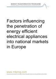 Factors influencing the penetration of energy efficient ... - topten.eu