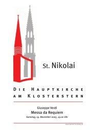 D ie H auptkirche am K losterstern - Hauptkirche St. Nikolai