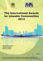 The International Awards for Liveable Communities 2013