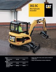 Specalog for 302.5 C Mini Hydraulic Excavator ... - Kelly Tractor