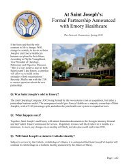 Formal Partnership Announced with Emory Healthcare - Cancer ...