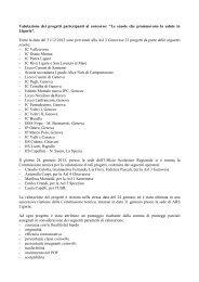 Valutazione dei progetti partecipanti al concorso - ASL n.3 Genovese