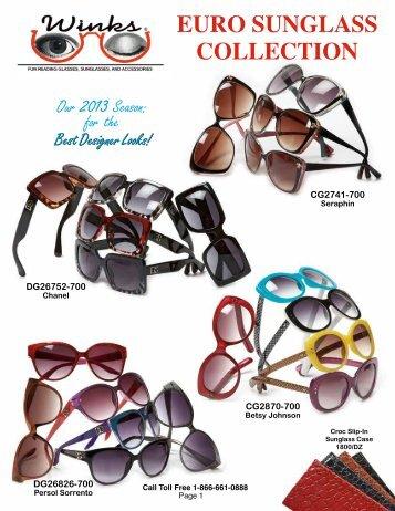 2013 Sunglass Catalog - Winks Eyewear, Readers & Sunglasses