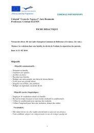 """""""Costache Negruzzi"""", Iasi, Roumanie Professeur: Cristian ELENIN ..."""