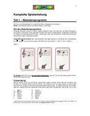 Spielanleitung für mehrere Spielvarianten