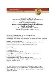 Determinismus und Rassismus in der Philologie des 19. Jahrhunderts