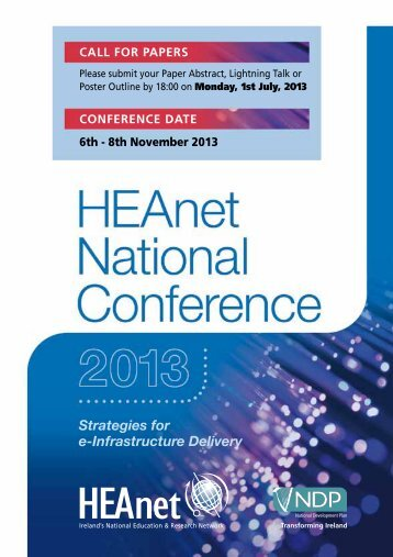 Strategies for e-Infrastructure Delivery - HEAnet