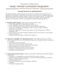 Learning Outcomes for Studying Abroad - Learning Abroad Center