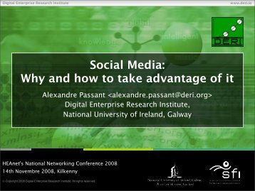 Social Media: Why and how to take advantage of it - HEAnet