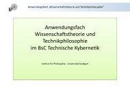 Anwendungsfach Wissenschaftstheorie und Technikphilosophie im ...