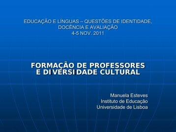 EDUCAÇÃO E LÍNGUAS – QUESTÕES DE IDENTIDADE ...