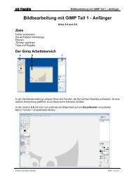 Bildbearbeitung mit GIMP Teil 1 - Anfänger - Noemedia.at