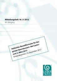 Heft 3 - 2012 - Basler Liedertafel