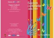 Programme culturelle 2008.pdf - Site officiel de la mairie de La ...