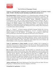 Non-Civil Service (Programme) Vacancy Temporary Assistant ...