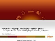 Advanced Imaging Applications – Convergence of GP computing ...