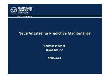 Neue Ansätze für Predictive Maintenance