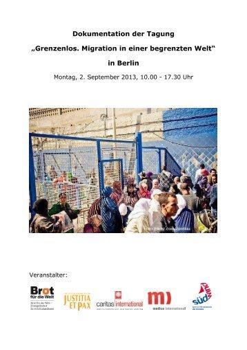 """Dokumentation der Tagung """"Grenzenlos. Migration ... - Justitia et Pax"""