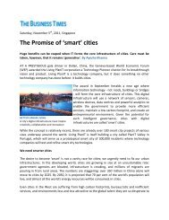 The Business Times - The Promise of 'smart' cities - Living PlanIT