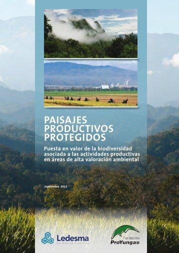 Cartilla Paisajes Productivos Protegidos - Fundación ProYungas
