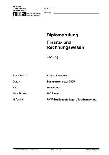 Diplomprüfung Finanz- und Rechnungswesen - Harti
