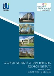 academy for irish cultural heritages research institute