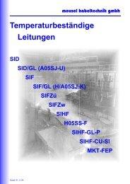 Temperaturbeständige Leitungen - Meusel Kabeltechnik GmbH